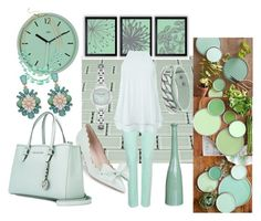 """""""Set 2 - In Light Mint"""" by sharee64 ❤ liked on Polyvore featuring NYDJ, New Look, Kate Spade, MICHAEL Michael Kors, Emporio Armani, Love Struck and BillyTheTree"""