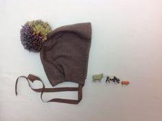 Pom Pom bonnet, baby bonnet, handmade wool bonnet, boho baby, winter bonnet, bonnet for girls, lined bonnet by RunaroundRetro on Etsy