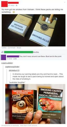 On the anti-smoking campaign: | 47 Times Australians Totally Nailed It On Tumblr In 2014