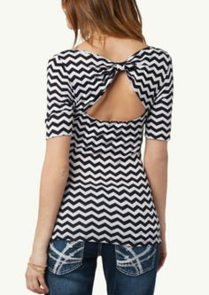 Chevron Bow Back Top | Fashion | rue21