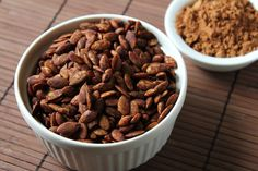 Mmmmm....cocoa roasted pumpkin seeds.  YUM!