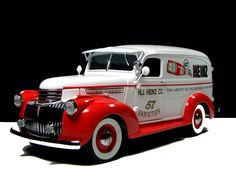 1941 Chevrolet Suburban Heinz delivery truck..