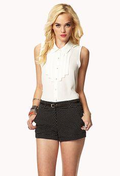 Polka Dot Shorts w/ Belt | FOREVER21 - 2045813043