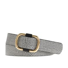 Spotted Leather Belt via J. Crew - $58