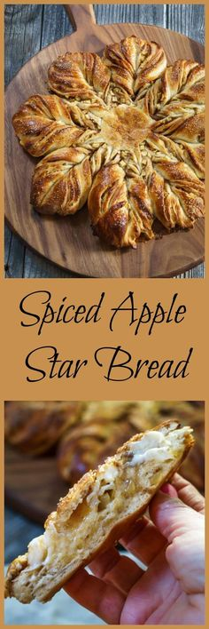 Spiced Apple Star Bread is so good you can eat it with a meal or as a dessert. It's a sweetened buttery, bread that's tender and warm from the fall spices. This bread looks hard to make, but it's easier than you think. | http://HostessAtHeart.com