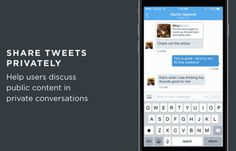 Twitter Now Lets You Share Public Tweets Via Direct Messages