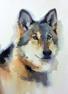 Watercolor Timber Wolf Tutorial How to Paint with Watercolor Thoughts and Paintings from Spencer Meagher Watercolor Wolf, Watercolor Trees, Watercolor Animals, Watercolor Illustration, Tattoo Watercolor, Simple Watercolor, Watercolor Background, Watercolor Landscape, Watercolor Paper