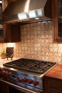 Kitchen backsplash of our Mediterranean 21