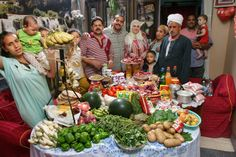 Egypt: The Ahmed family of Cairo. Food expenditure for one week: 387.85 Egyptian Pounds or $68.53. Family recipe: Okra and mutton.