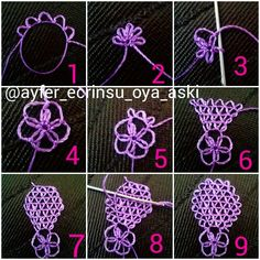 Embroidery Stitches Tutorial This Pin was discovered by Ser Crochet Unique, Crochet Motif, Irish Crochet, Needle Tatting, Tatting Lace, Needle Lace, Embroidery Stitches Tutorial, Tatting Patterns, Crafts