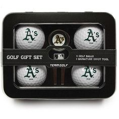 Team Golf MLB Oakland Athletics 4 Golf Ball And Divot Tool Set, Green