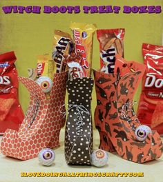 (I) (L)ove (D)oing (A)ll Things Crafty!: Witch Boots Treat Boxes - must buy a Silhouette pattern (link included in post)