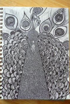 Zentangle Peacock | No comments:
