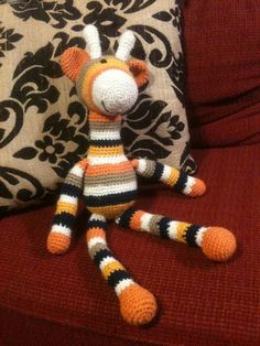 Crochet Giraffe - link to pattern in blog