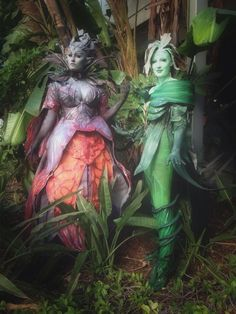Faolain (Alicia Ruble) and Caithe (Heather Hela) from Guild Wars 2 at Anime Expo 2014
