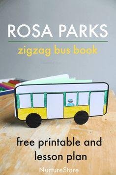 Rosa Parks Story, Rosa Parks Bus, Bus Crafts, Reading Comprehension Skills, Der Bus, Free Lesson Plans, Free Activities, Toddler Activities, Reading Lessons