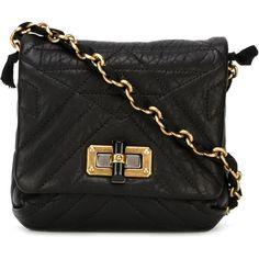 Lanvin Happy Crossbody Bag (6.525 BRL) ❤ liked on Polyvore featuring bags, handbags, shoulder bags, black, quilted crossbody, black crossbody purse, crossbody purse, quilted shoulder bag and quilted crossbody purse