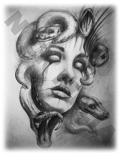 Items similar to Claudia Schiffer Minimalism Pencil Drawing Fine Art Portrait Signed Print on Etsy Tattoo Sketches, Tattoo Drawings, Pencil Drawings, Art Drawings, Medusa Art, Medusa Gorgon, Medusa Tattoo Design, Angel Tattoo Designs, Tattoo Old School