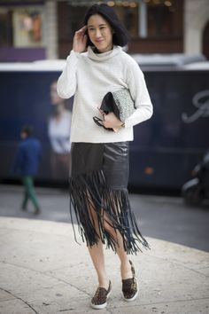 TamaraMellon #Suede #Fringe #Skirt featured in July ...