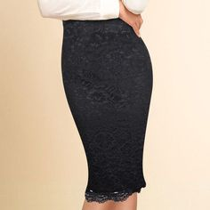 d45c22de5f Vfemage Women Elegant Floral Lace High Waist Wear to Work Office Party  Bodycon Fitted Skirt 1838