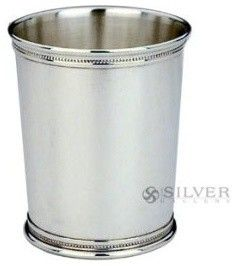 Silver Mint Julep Cup by Reed and Barton, silverplated Traditional Desk Accessories, Kentucky Derby Favorites, Mint Julep Cups, Decorative Beads, Pencil Cup, Reed & Barton, Personalized Cups, Classic Cocktails, Pen Holders