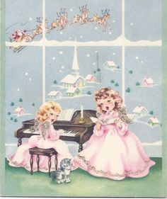 Vintage Christmas Angels ♡ღ Vintage Christmas Images, Old Christmas, Retro Christmas, Vintage Holiday, Christmas Pictures, Christmas Angels, Vintage Images, Vintage Greeting Cards, Christmas Greeting Cards