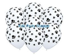 """Compliment your Paw Patrol, Puppy, Kitty, or Animal Party decor with these fun Paw Print balloons! + Package includes (7) 11"""" printed latex balloons, as pictured + Strings/Ribbon are not included + Sh                                                                                                                                                                                 More"""