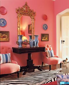Hot pink and zebra? Property Envy's Mary McDonald knows just what girly girls are looking for in house decor.