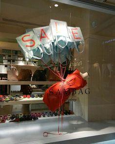 "SAMBAG, Sydney, New South Wales, Australia, ""The SALE takes flight"", creative by Sam Gazal Installations, pinned by Ton van der Veer"