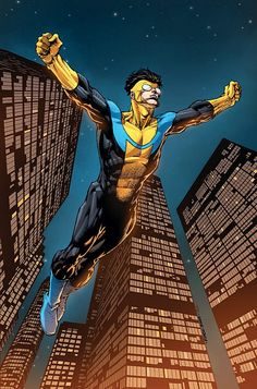 Invincible - Great graphic novel series by Robert Kirkman (of The Walking Dead fame)