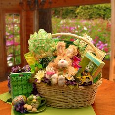 Easter baskets gift baskets chocolate free shipping no sales an easter festival deluxe gift basket negle Choice Image