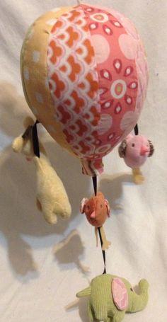 Cocalo baby Couture hot air balloon Musical Mobile Birds elephant giraffe #CoCaLo