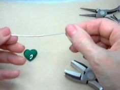 (5) Wire-wrapped 20mm Malachite Heart Pendant - YouTube