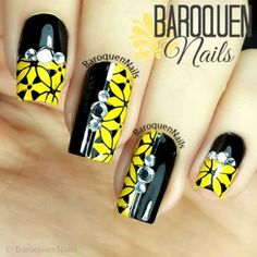 Uñas amarillas largas - Long Yellow Nails