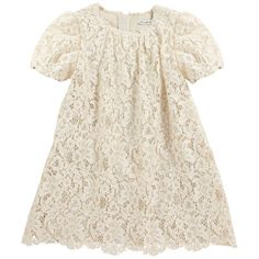 Dolce & Gabbana - Ivory lace and silk dress