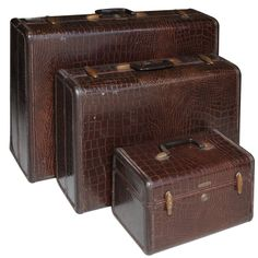 Vintage Set of Samsonite Luggage   From a unique collection of antique and modern trunks and luggage at http://www.1stdibs.com/furniture/more-furniture-collectibles/trunks-luggage/