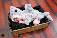 Calleigh's Clips & Crochet Creations: Free Crochet Pattern : Shark Headpiece