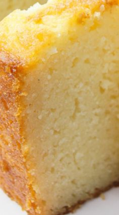 Ricotta Cake ~ It's sweet, but not too sweet, hints of vanilla flavor all over it, very moist and easy to make...It's yummy with all sorts of toppings - fruits, cream, ice cream and whatever you may think of