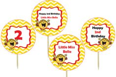 little miss sunshine cupcake toppers