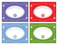 Holiday Gift Tags For Your Cookie Decorating Party