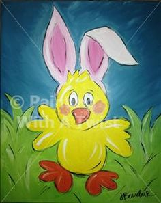 KIDS CLASS-Easter Chickadee - Prairieville, LA Painting Class - Painting with a Twist
