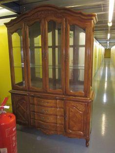 Large Ornate Wooden Display Cabinet/Cupboard/Dresser. #Unbranded