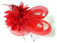 Red Wedding Fascinator Ideas  #Red #Hair #Fascinator