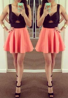 Coral Bow Keyhole Dress, lovely dress to have