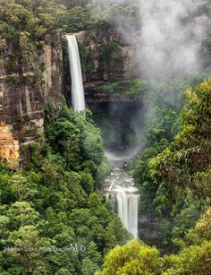 """""""This is the stunning Belmore Falls at full flow which is only a 5 minute walk from Hindmarsh Lookout."""" Near Robertson, NSW - Marijan Sisko Cool Countries, Countries Of The World, Waterfall Fountain, River Walk, Walkabout, Life Is An Adventure, South Australia, Holiday Destinations, Bella"""