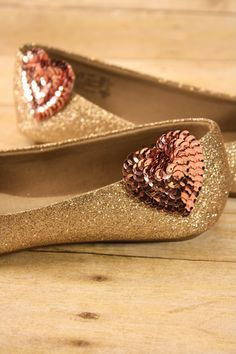 Blush pink heart shoe clips