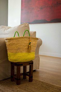 Handmade Woven Palm Leaf Bag/Summer Straw Capazo by Spiralspiralhttps://www.facebook.com/pages/Spiral/1436327999944474