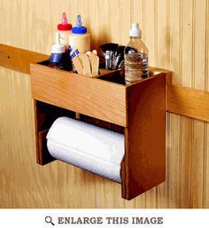 Easy Woodworking Projects Portable Glue and Paper Towel Center Woodworking Plan Woodworking Glue, Easy Woodworking Projects, Popular Woodworking, Woodworking Furniture, Diy Wood Projects, Woodworking Techniques, Woodworking Workbench, Woodworking Basics, Woodworking Patterns