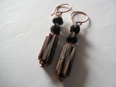 Copper Dangle Vintage Appeal Earrings Fall by georgieandjetdesigns