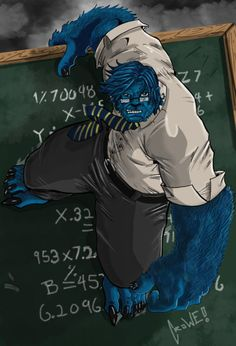 Beast, proof intelligence and awesomeness are one in the same...if you're blue...and are covered in hair...but yeah, pretty much the same thing.